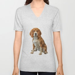 Drawing Dog Beagle Unisex V-Neck
