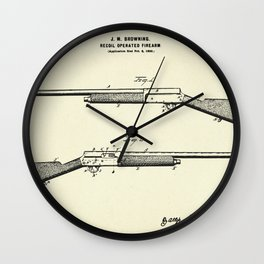 Recoil Operated Firearm-1900 Wall Clock