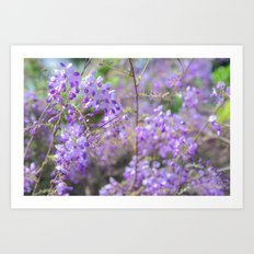 Bees and lilacs Art Print