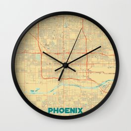 Phoenix Map Retro Wall Clock