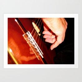 Flamenco Guitar Fingers Art Print