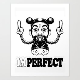 Imperfect Charlie Mouse Art Print