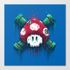 Mushroom Skull Canvas Print