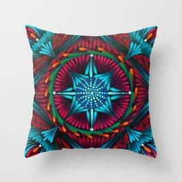 Compass Mandala Throw Pillow