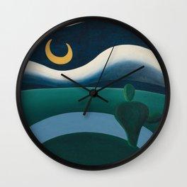 Tarsila do Amaral - A Lua - Art Poster Wall Clock