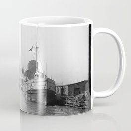 South Branch of the Chicago River at 14th Street 1900 Coffee Mug