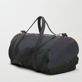 Never Stop Exploring - Cascade Sunset Duffle Bag