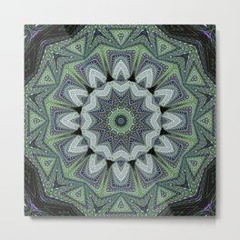 Reflecting Pattern Mandala 2 Metal Print