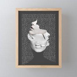 collage art / Faces 2 Framed Mini Art Print
