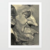 springsteen Art Prints featuring Springsteen by Alan Carlstrom