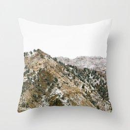 Snow Covered Veil, Colorado Mountains Throw Pillow