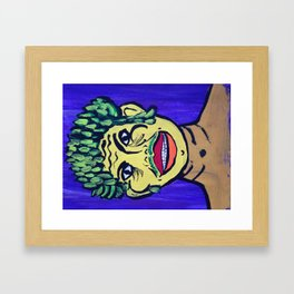 Asparagus Man Framed Art Print