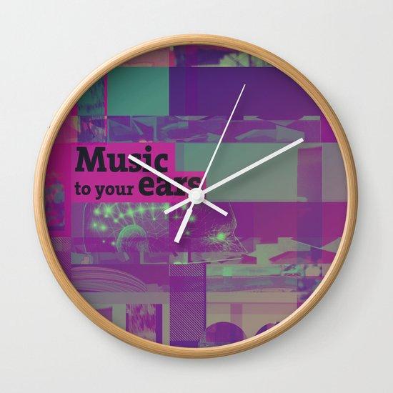 Music To Your Ears (ANALOG zine) Wall Clock