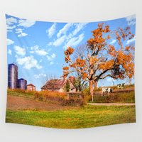 kentucky Wall Tapestries featuring Autumn Kentucky Farm by Mary Timman
