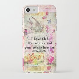 Emily Bronte quote Wuthering Heights iPhone Case