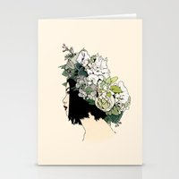 geisha Stationery Cards featuring Geisha by Hypathie Aswang