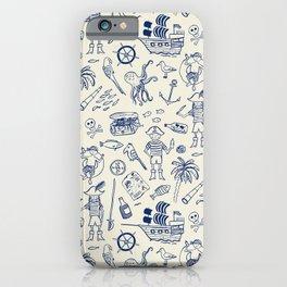 Pirate Play - Cream iPhone Case