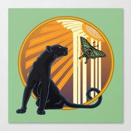 Jaguar Plain Art Deco Canvas Print