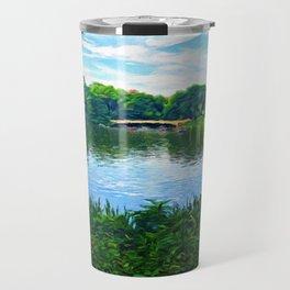Central Park Bridge Over Peaceful Waters Travel Mug