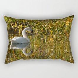Idle Swan Rectangular Pillow