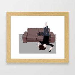 I'm always waiting for a red letter day Framed Art Print