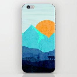 Wild mountain sunset landscape iPhone Skin