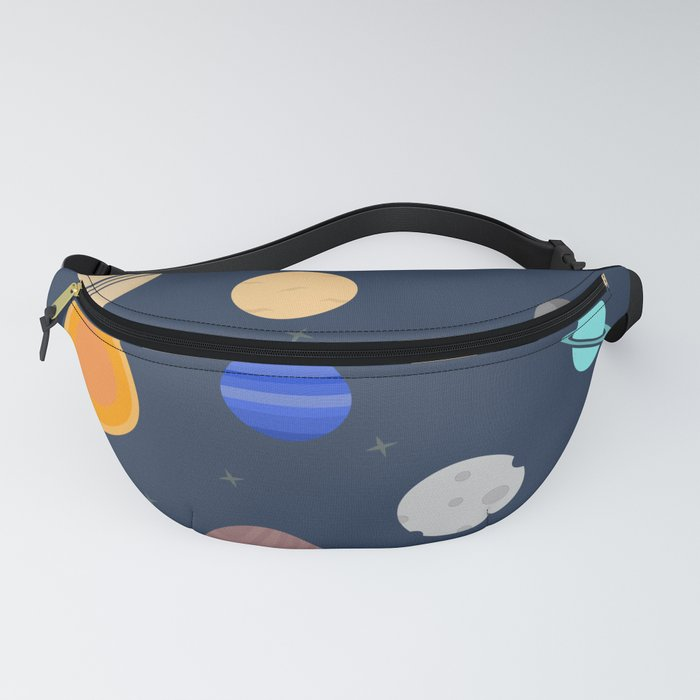 Planets illustration Fanny Pack