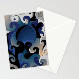 Beachy Swirls Stationery Cards