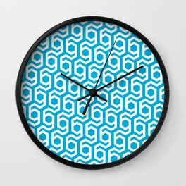 Modern Hive Geometric Repeat Pattern Wall Clock