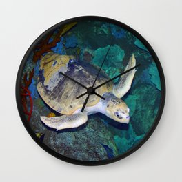 Kemp's Ridley Sea Turtle Wall Clock