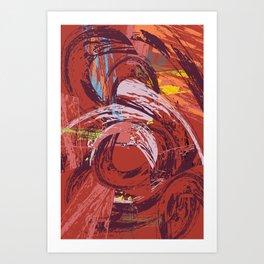 Red Bang Art Print