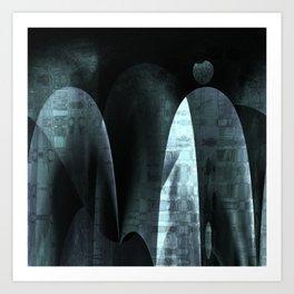 Abstract ~ Black Art Print
