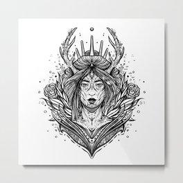 Doe, A Female Deer (Daily Sketch Series) Metal Print