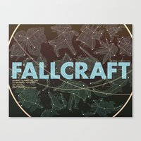 starcraft Canvas Prints featuring NYU Game Center Starcraft Tournament Poster by Rachel E. Morris