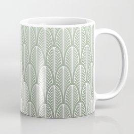 Art Deco Pattern Mint Green Coffee Mug