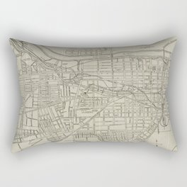Vintage Map of Augusta GA (1913) Rectangular Pillow