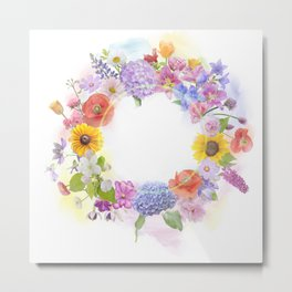 arrangement of colorful flowers for background Metal Print