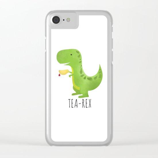 Tea-Rex Clear iPhone Case