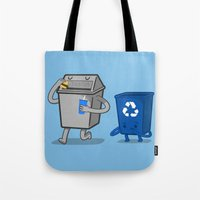 junk food Tote Bags featuring Junk Food Diet by Jake Friedman