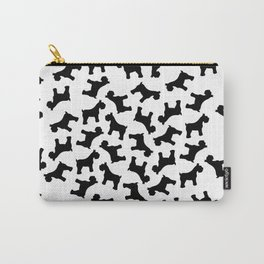 Schnauzer - Simple Dog Silhouette Carry-All Pouch