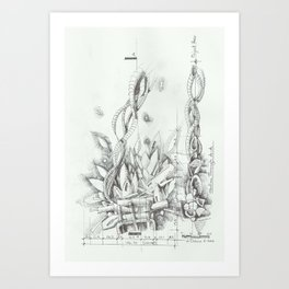 Abstracted Fire Art Print