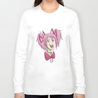 madoka Long Sleeve T-shirts featuring Madoka the Magical Girl by Michelle Rakar