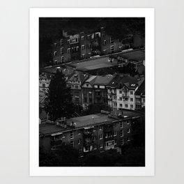 tiny boy (Series: 'empty city full of lonely people') Art Print