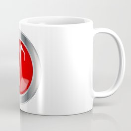 Red Musical Note Button Coffee Mug