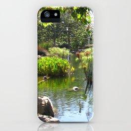 Chase Palm Park Pond Santa Barbara iPhone Case