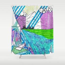 landscape of wonder Shower Curtain