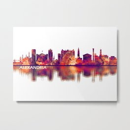Alexandria Egypt Skyline Metal Print