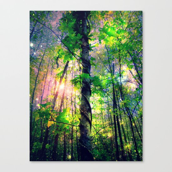 Forest of the Fairies (Deep Pastels) Canvas Print