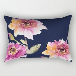 Dhalia -navy Rectangular Pillow