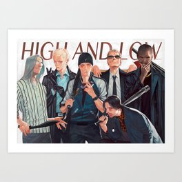 high and low Art Print